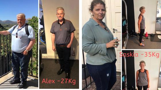 Alex en Saskia vielen vielen samen ruim 60 kilo af in 20 weken met het Dline afslankprogramma.